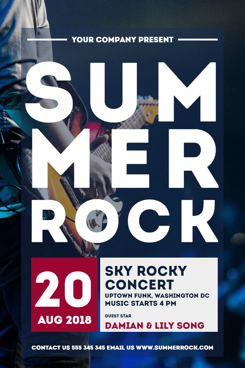 summer rock #concerts #invitation Design  Template