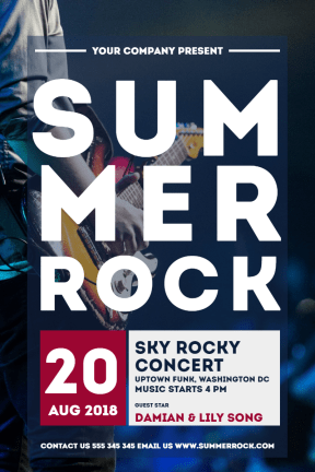 summer rock #concerts #invitation #poster #event #rock #summer #vibe #festival
