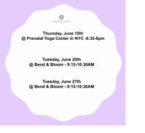 happy yoga schedule