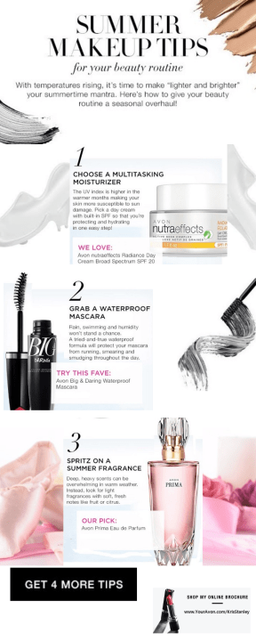 Avon summer Makeup Tips