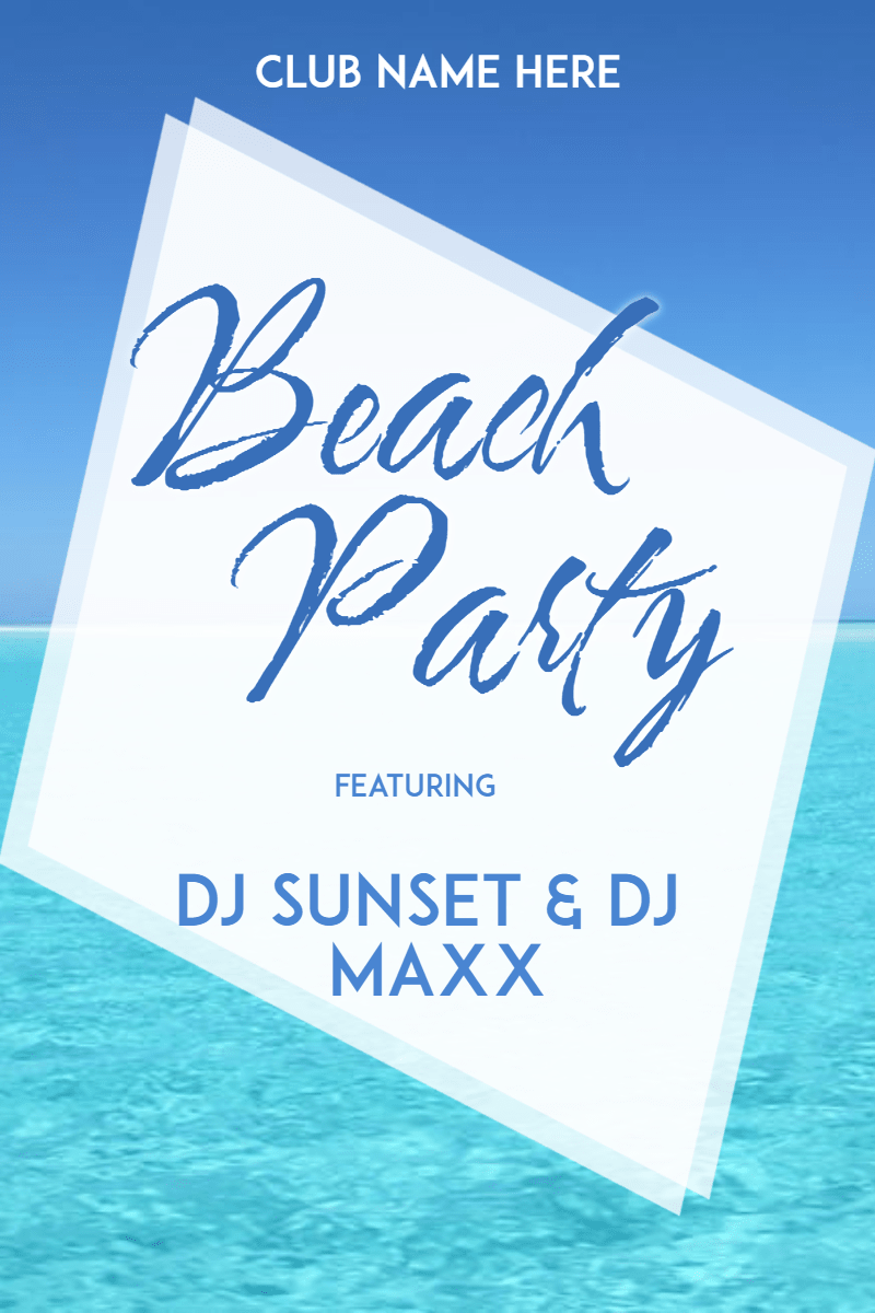 Beach Party #invitation #summer Design  Template