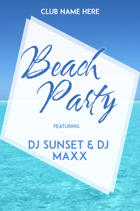 Beach Party #invitation #summer #vibes #beach #beachparty #music #poster
