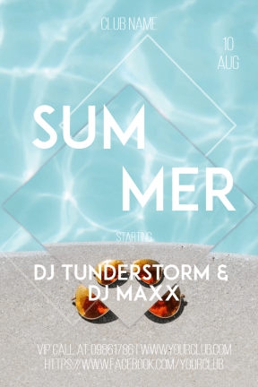 Summer club party #invitation #poster #club #vibe #summer #party #festival #music