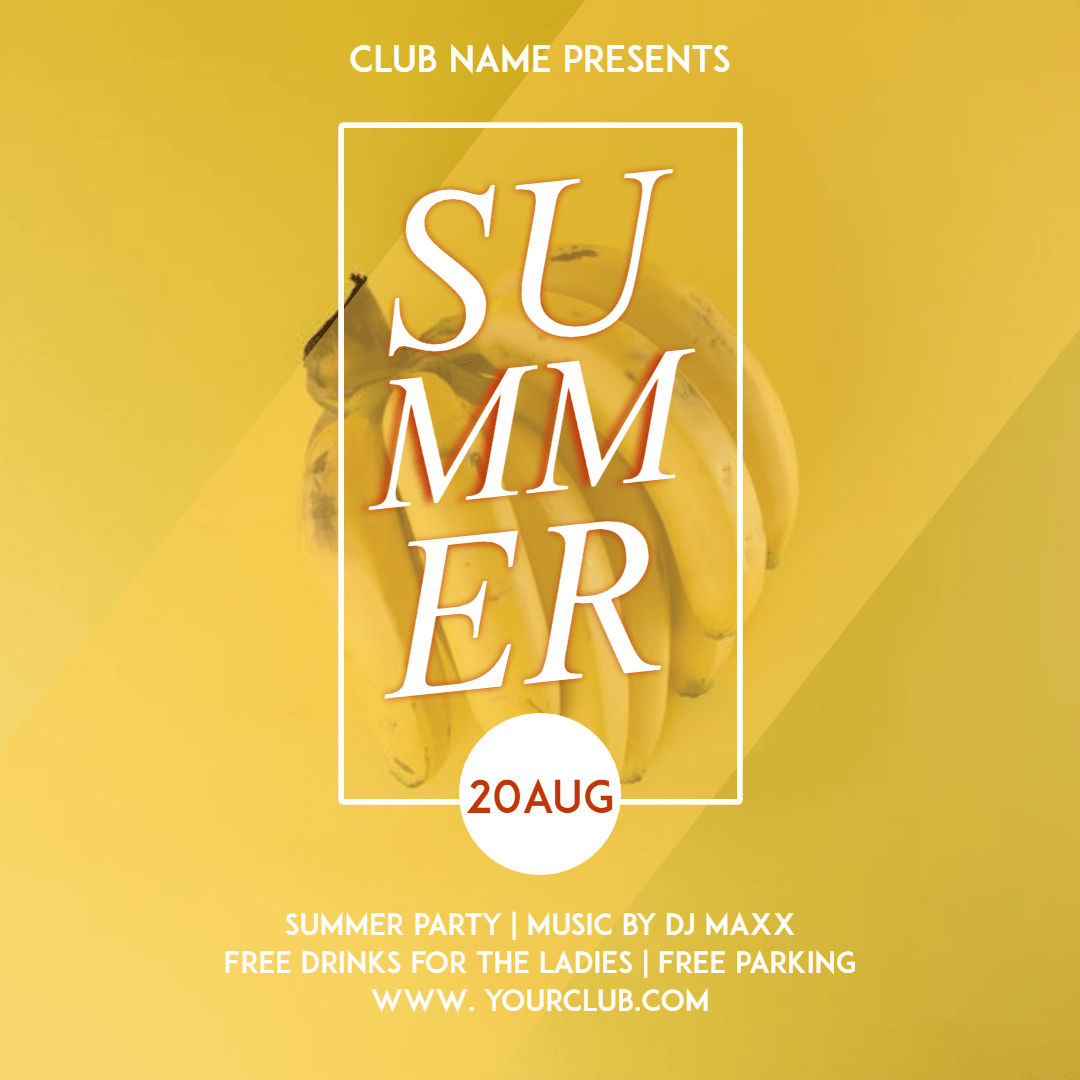 Summer party  #invitation #party Design  Template