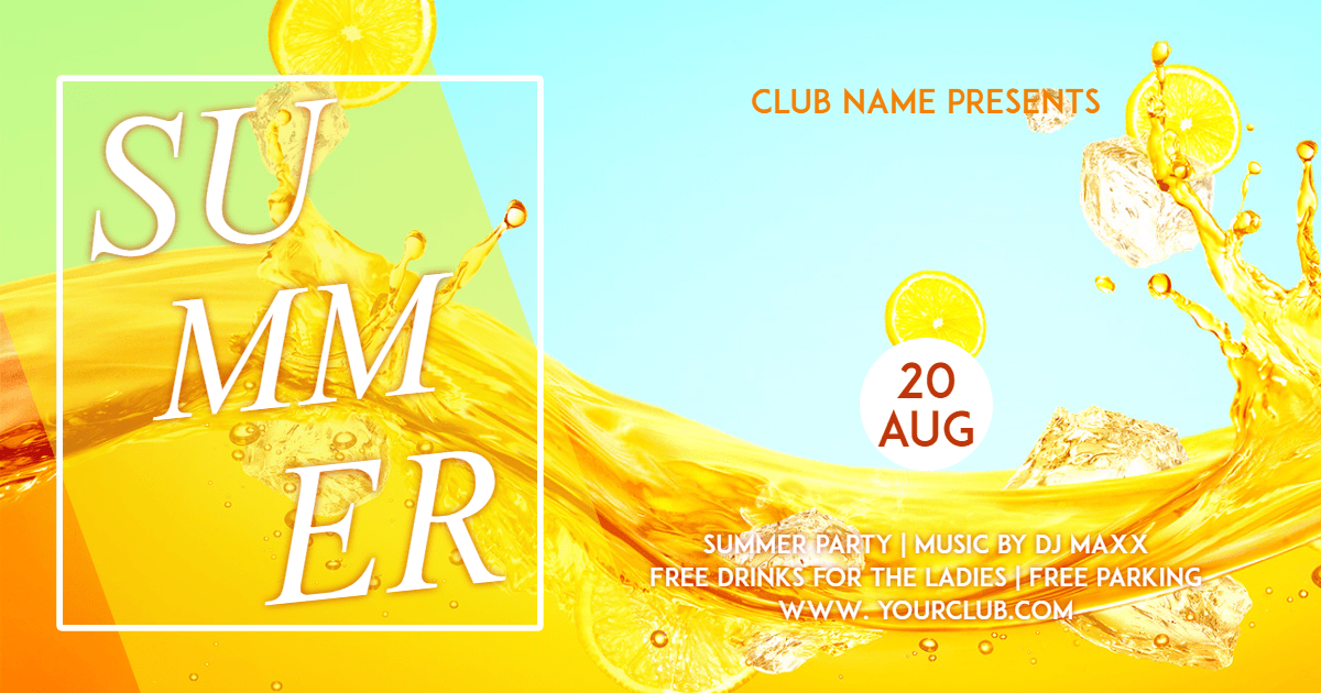 Yellow,                Font,                Advertising,                Brand,                Junk,                Food,                Invitation,                Party,                Summer,                Tropical,                Vibes,                Poster,                White,                 Free Image