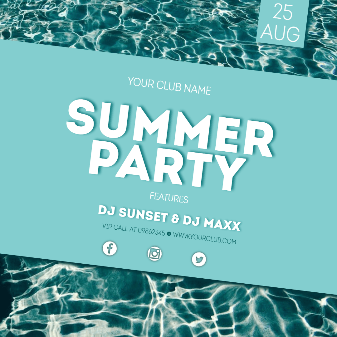 summer party #invitation #summer Design  Template