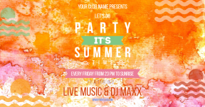 Summer party #invitation #party #poster #summer #summertime #vibes
