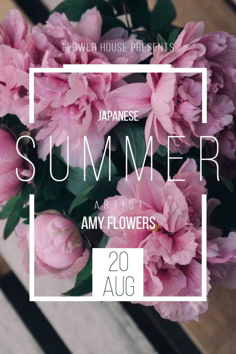 Japanese summer #invitation #summer Design  Template
