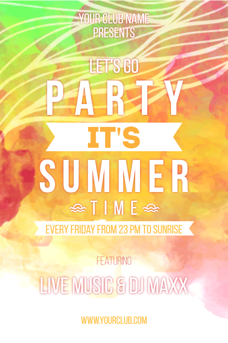 Text,                Font,                Advertising,                Invitation,                Party,                Poster,                Summer,                Summertime,                Vibes,                White,                Yellow,                 Free Image