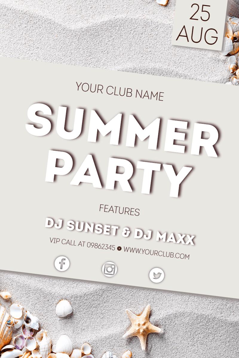 Brand, Invitation, Summer, Poster, Vibes, Summervibes, Beach, Beachparty, Music, White,  Free Image