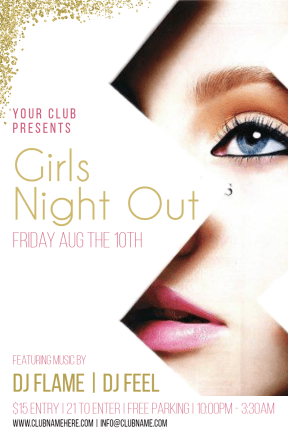 Girls night out #invitation #poster #club #girlsnightout #girls #fun #dance #music