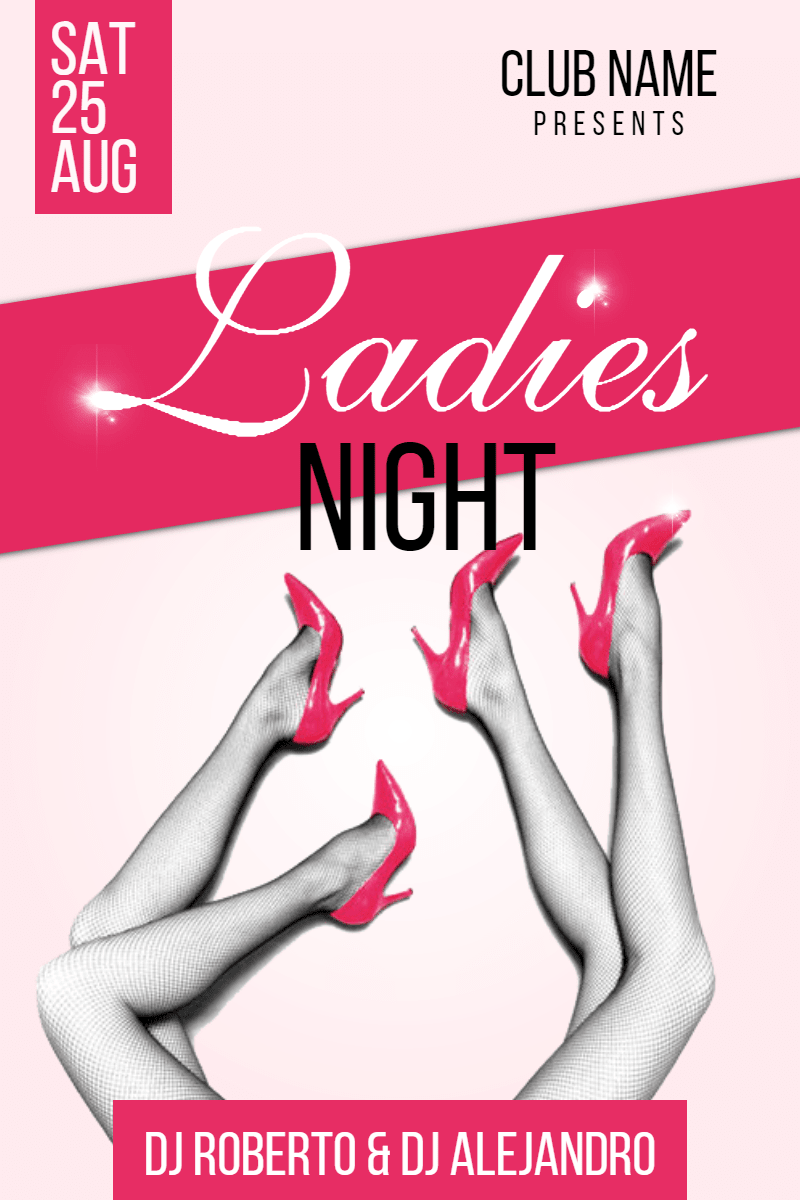 Ladies night #invitation #promotion Design  Template