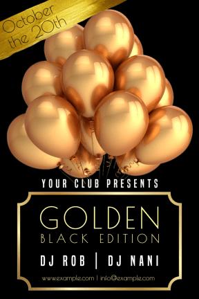 Gold Party #invitation #gold #golden #mockup #club #dance #fun