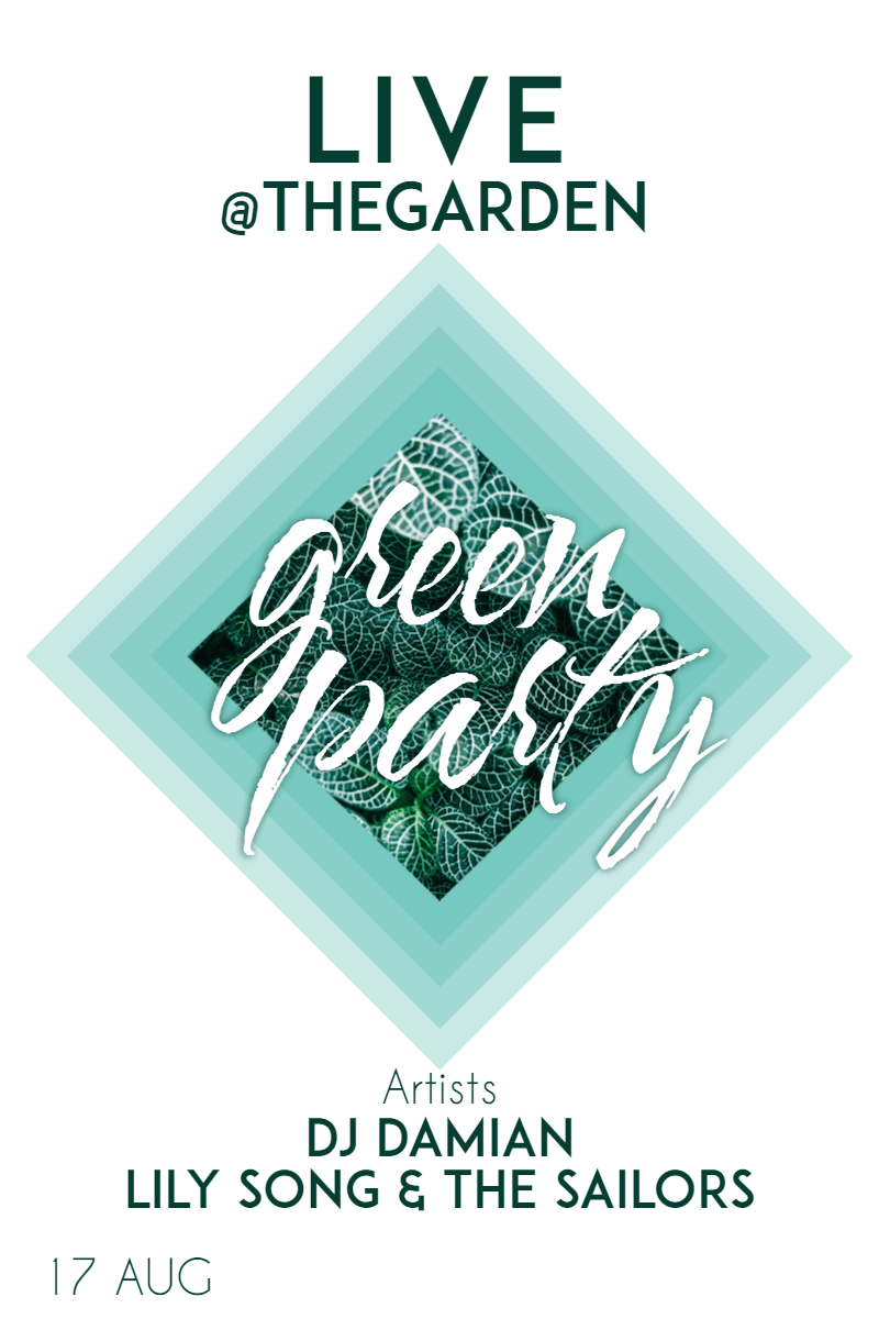 Green party #invitation #poster Design  Template