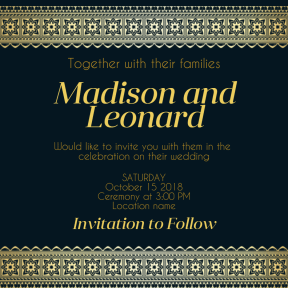 Wedding invitation #invitation #wedding #love #ceremony #marriage