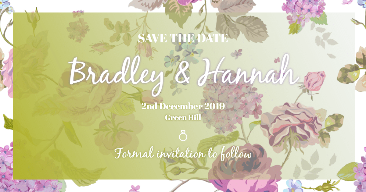 Flower, Green, Pink, Yellow, Text, Invitation, Wedding, Love, Ceremony, Marriage, White,  Free Image