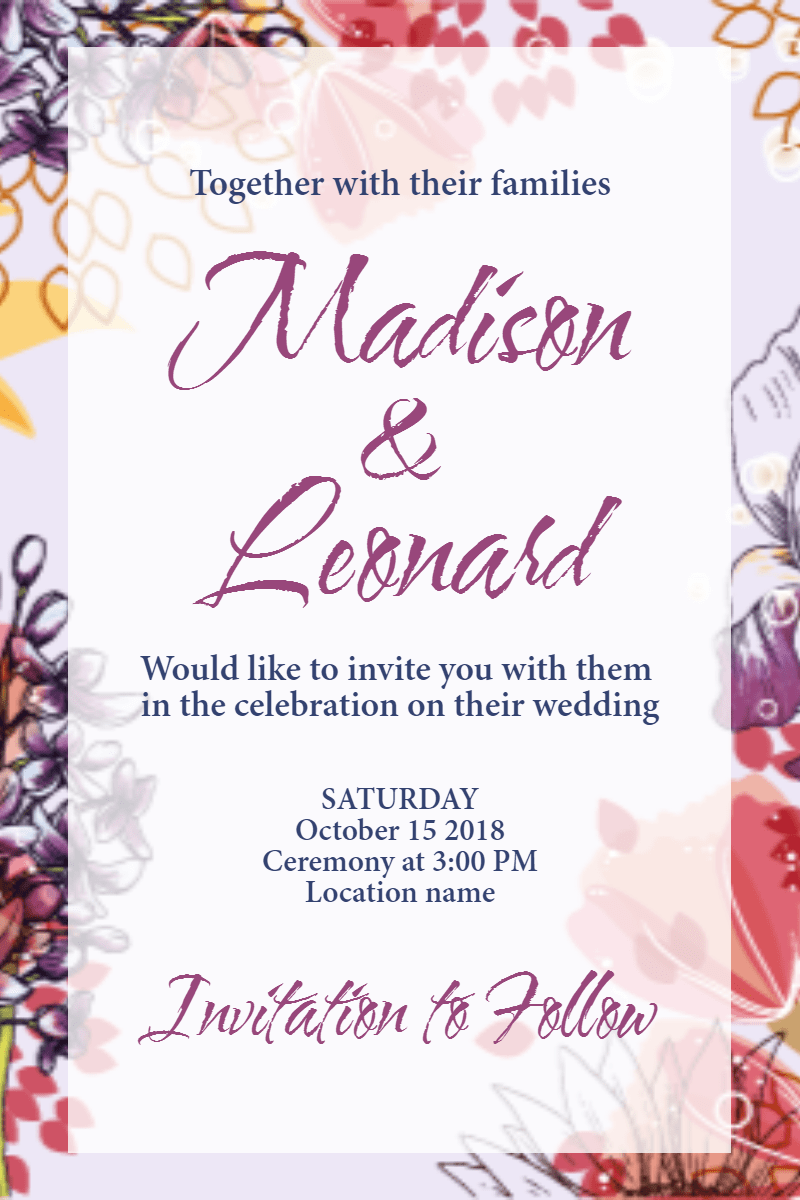 Text, Pink, Petal, Font, Advertising, Invitation, Wedding, Love, Ceremony, Marriage, White,  Free Image