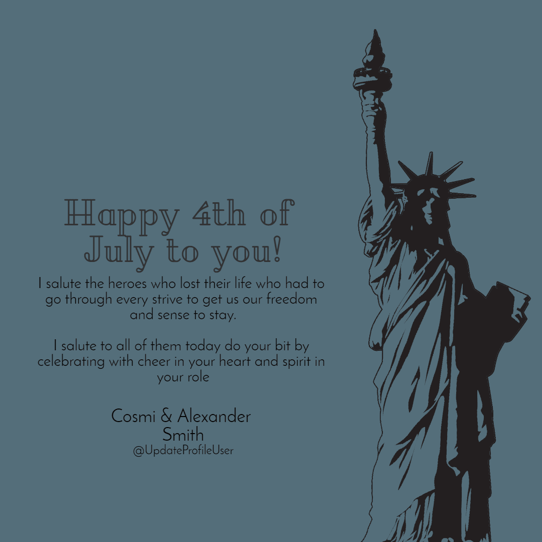4th of July superman message Design  Template