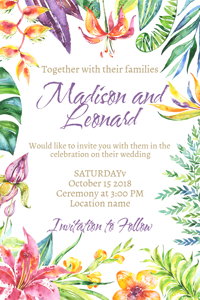 Flower, Flora, Text, Arranging, Leaf, Invitation, Wedding, Love, Ceremony, Marriage, White,  Free Image