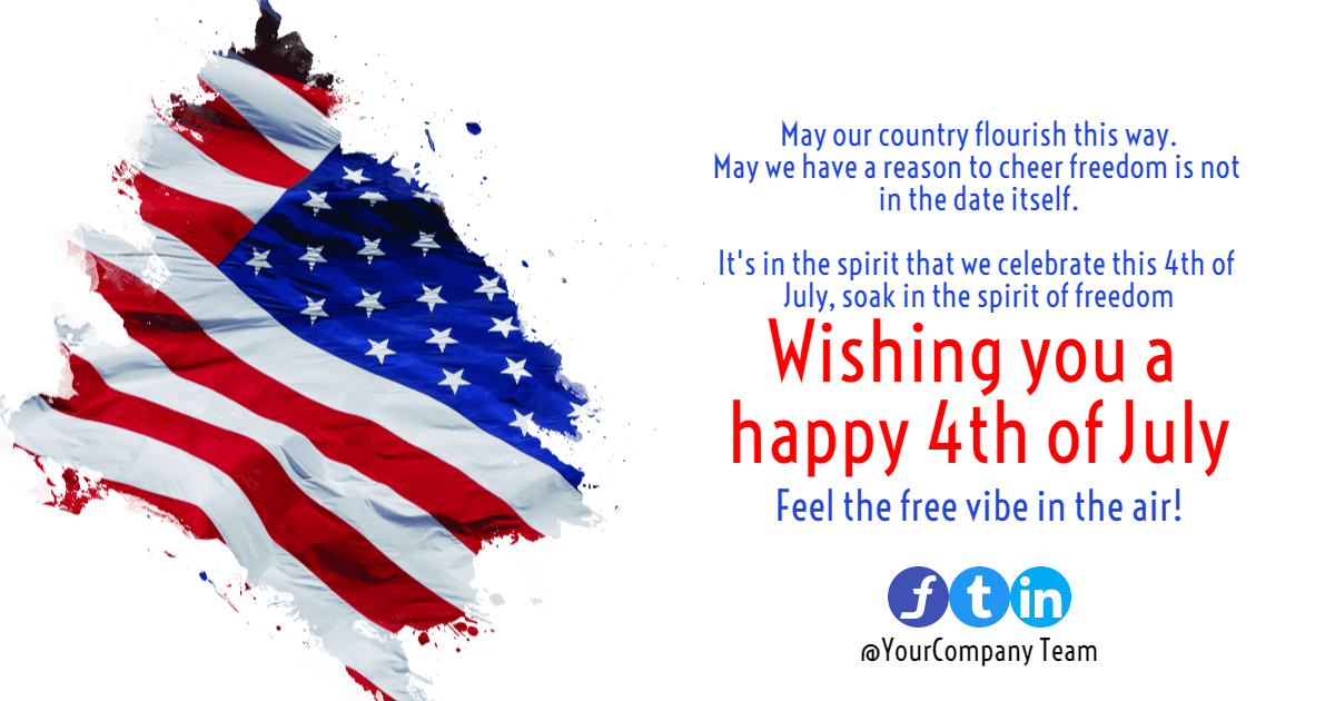 4th of July message #4thofjuly Design  Template