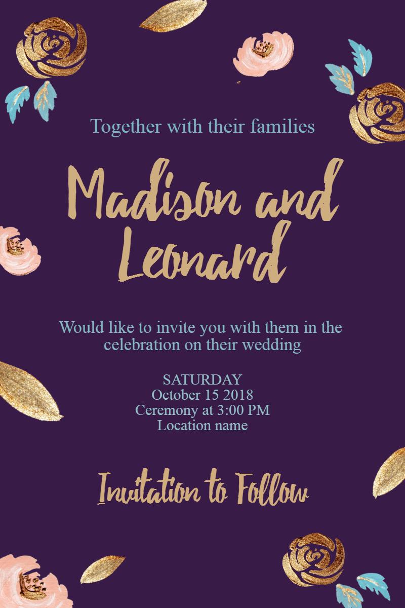 Text,                Purple,                Font,                Invitation,                Wedding,                Love,                Ceremony,                Marriage,                Black,                 Free Image