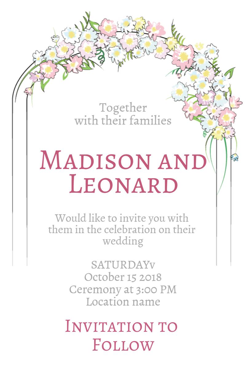 Flower,                Pink,                Text,                Font,                Petal,                Invitation,                Wedding,                Love,                Ceremony,                Marriage,                White,                 Free Image