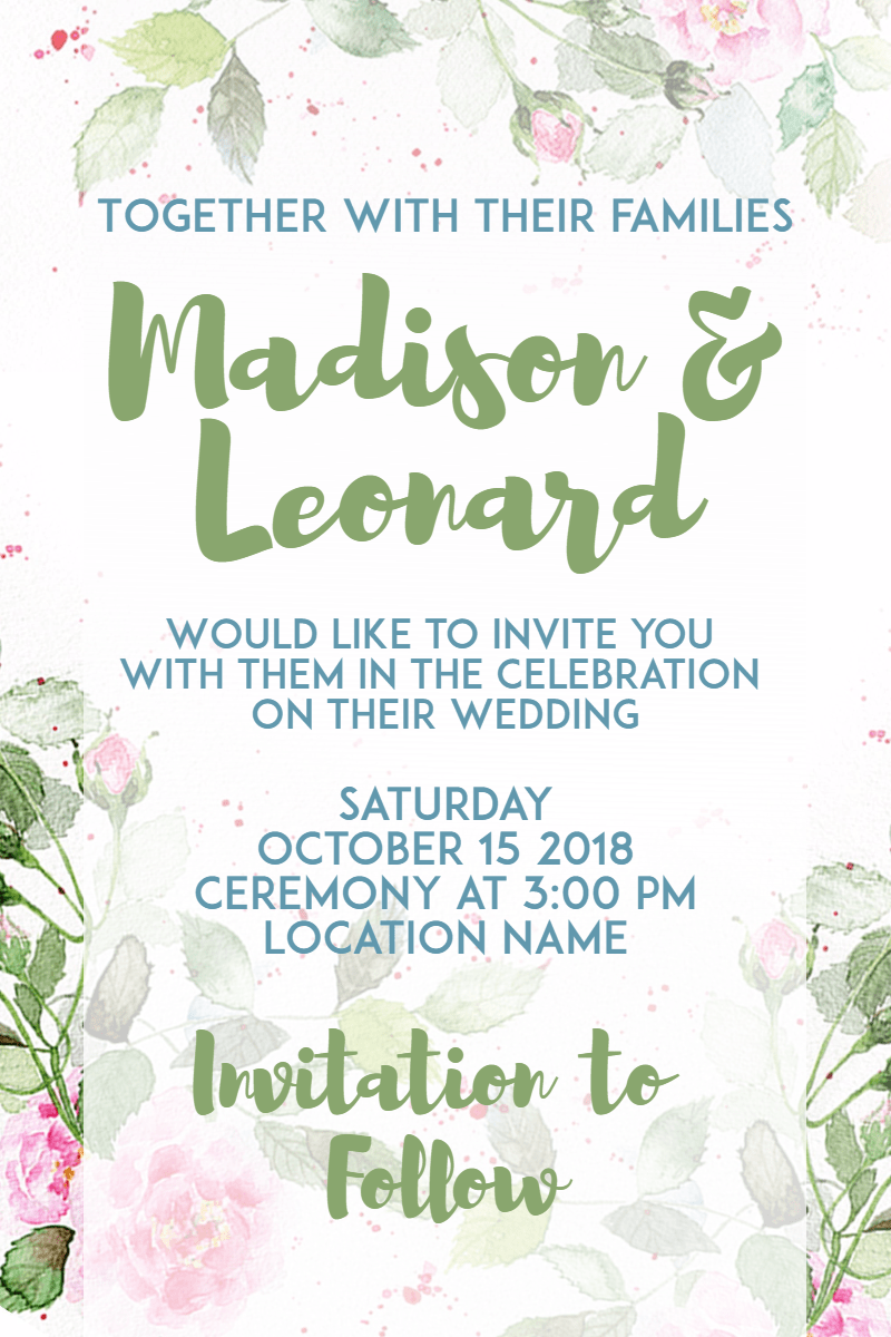 Flower, Green, Text, Flora, Flowering, Plant, Invitation, Wedding, Love, Ceremony, Marriage, White,  Free Image