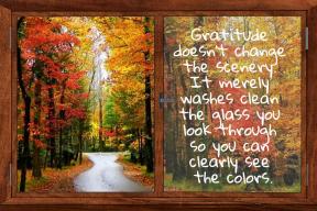 Gratitude doesn't change