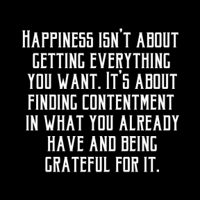 Happiness isn't about
