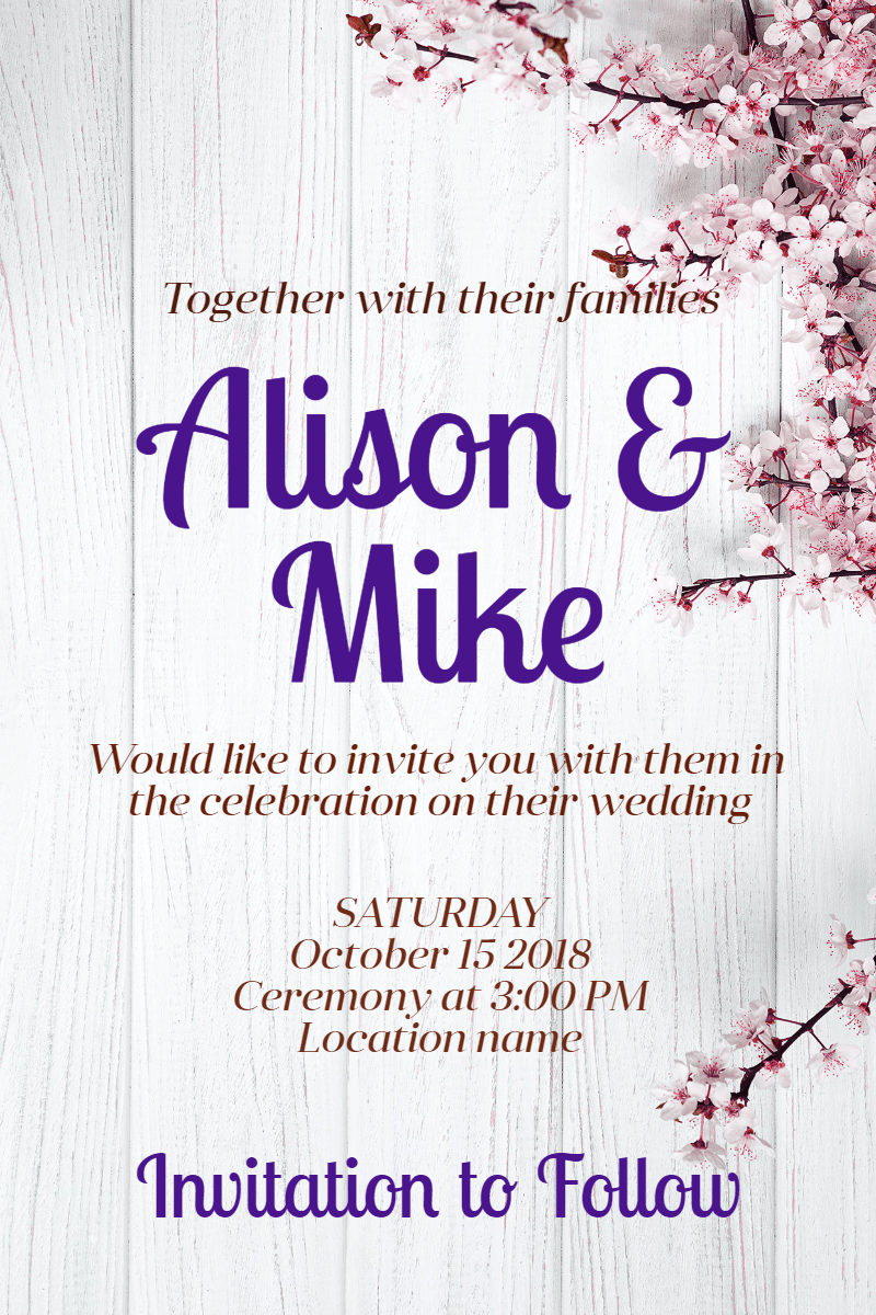 Text, Font, Purple, Line, Product, Invitation, Wedding, Love, Ceremony, Marriage, White,  Free Image
