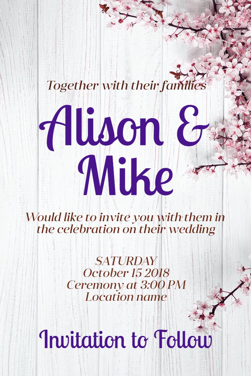 Wedding invitation #invitation Design  Template