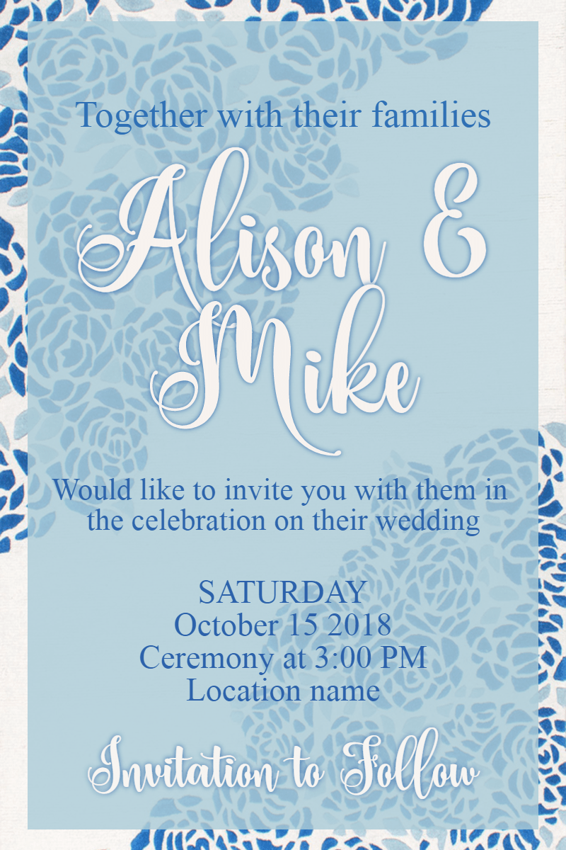 Blue,                Text,                Font,                Sky,                Invitation,                Wedding,                Love,                Ceremony,                Marriage,                White,                 Free Image