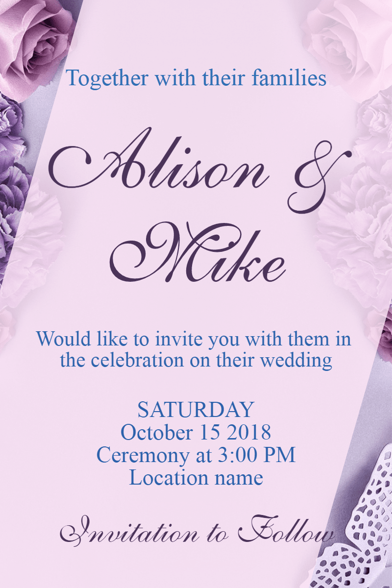 Text,                Purple,                Font,                Beauty,                Violet,                Invitation,                Wedding,                Love,                Ceremony,                Marriage,                White,                 Free Image