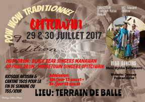 Affiche Pow Wow Traditionnel 2017