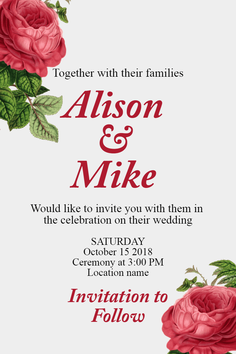 Flower,                Garden,                Roses,                Rose,                Family,                Text,                Invitation,                Wedding,                Love,                Ceremony,                Marriage,                White,                Red,                 Free Image