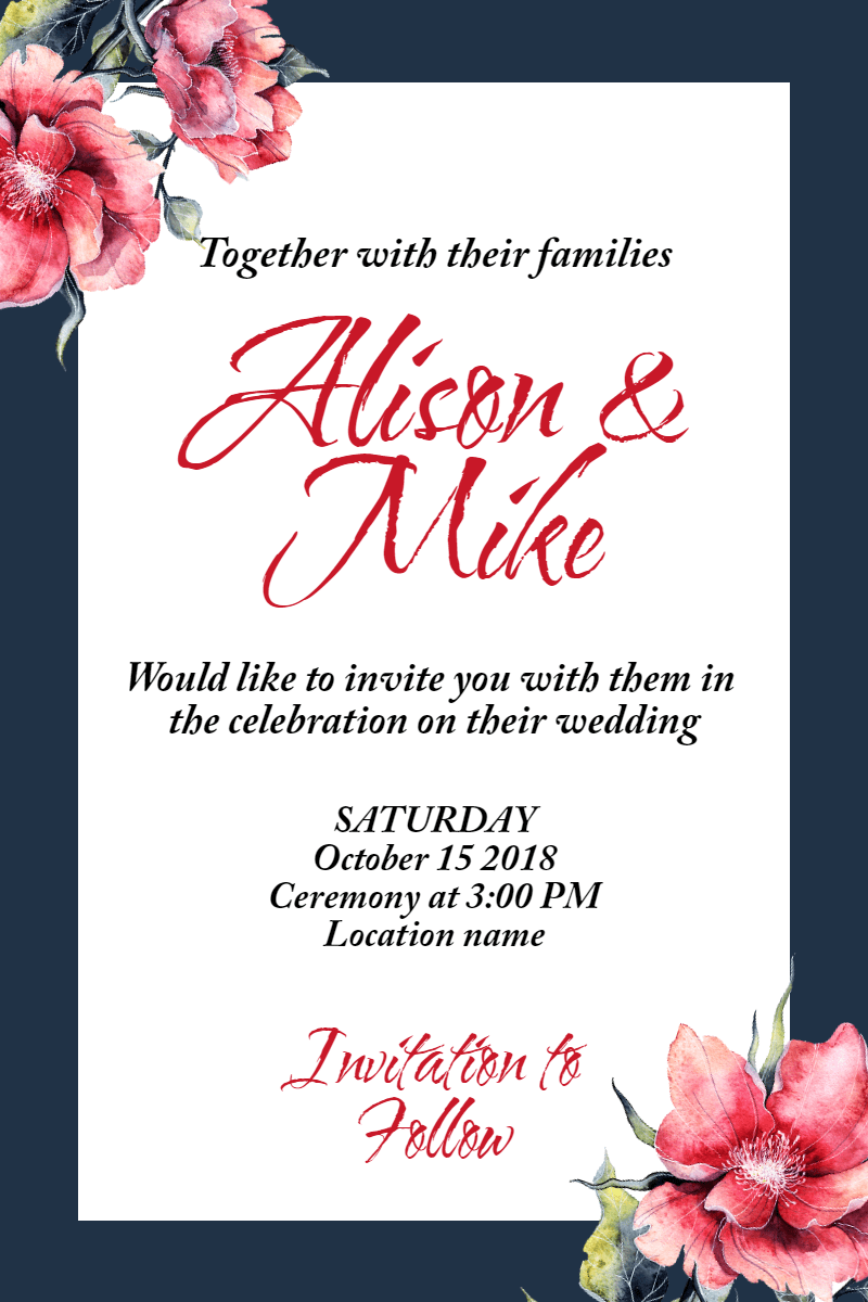 Wedding invitation #invitation Design  Template
