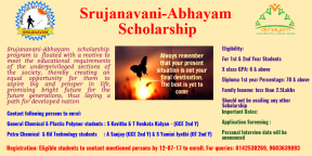 Scholarship poster for chemical college