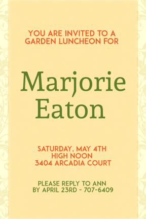 Tea party #invitation #party #ceremony #garden