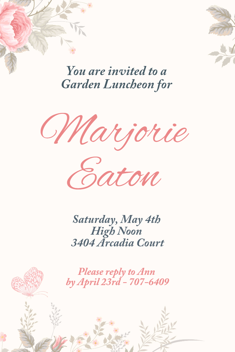 Tea party #invitation #party Design  Template