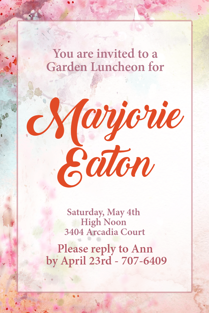 Pink, Text, Font, Petal, Invitation, Party, Ceremony, Garden, White,  Free Image