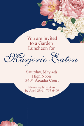 Tea party #invitation #party #ceremony #garden