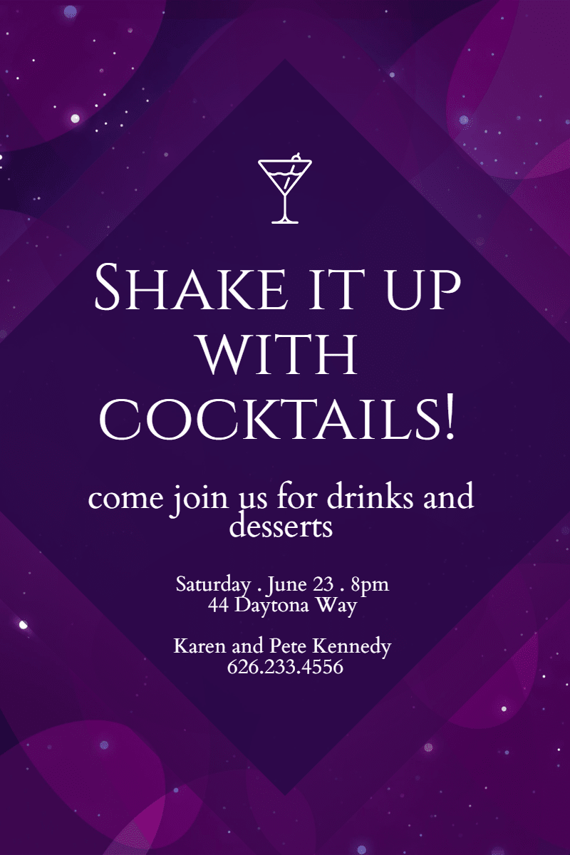 Purple, Text, Violet, Magenta, Font, Invitation, Party, Cocktail, Fun, Black,  Free Image