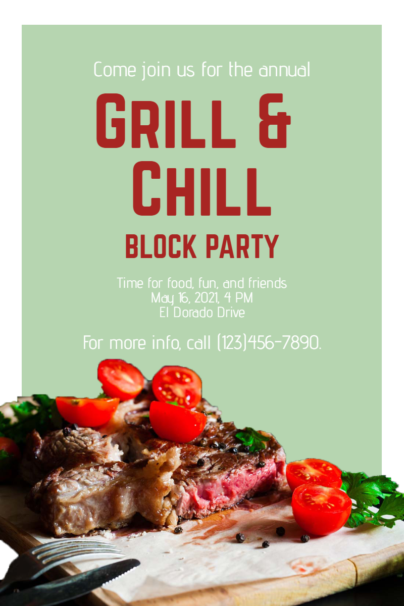 Grill and chill #invitation #grill Design  Template