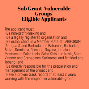 subgrant eligible applicants