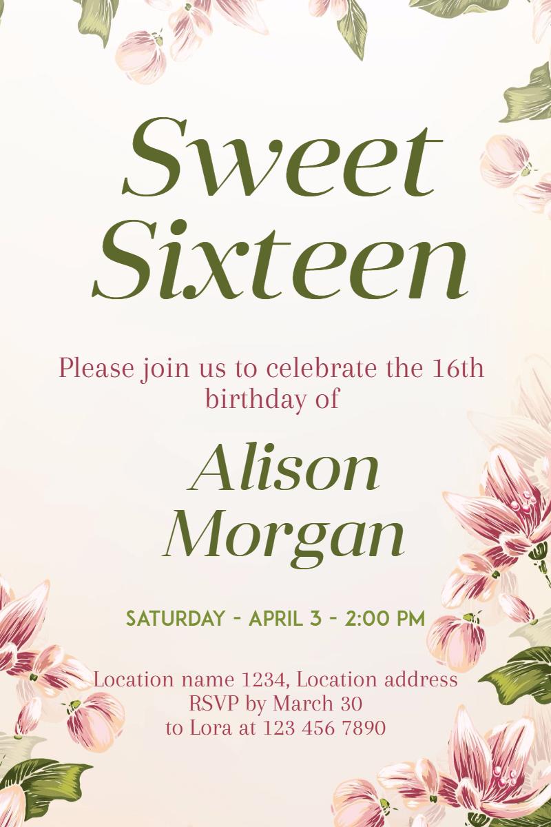 Flower,                Text,                Arranging,                Floristry,                Flora,                Invitation,                Sweetsixteen,                Party,                Birthday,                Anniversary,                White,                 Free Image