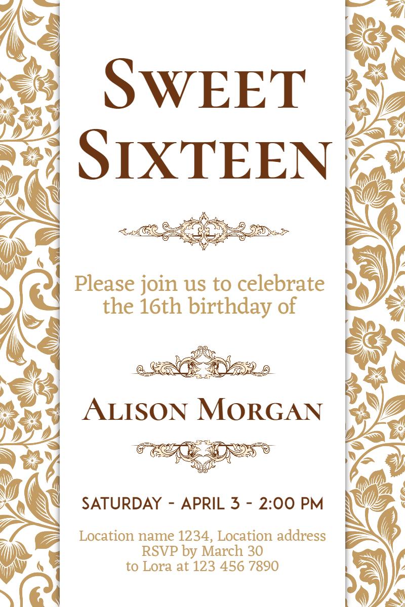 Text,                Font,                Line,                Calligraphy,                Invitation,                Sweetsixteen,                Party,                Birthday,                Anniversary,                White,                 Free Image
