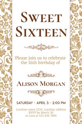 Sweet Sixteen #invitation #sweetsixteen #party #birthday #anniversary #