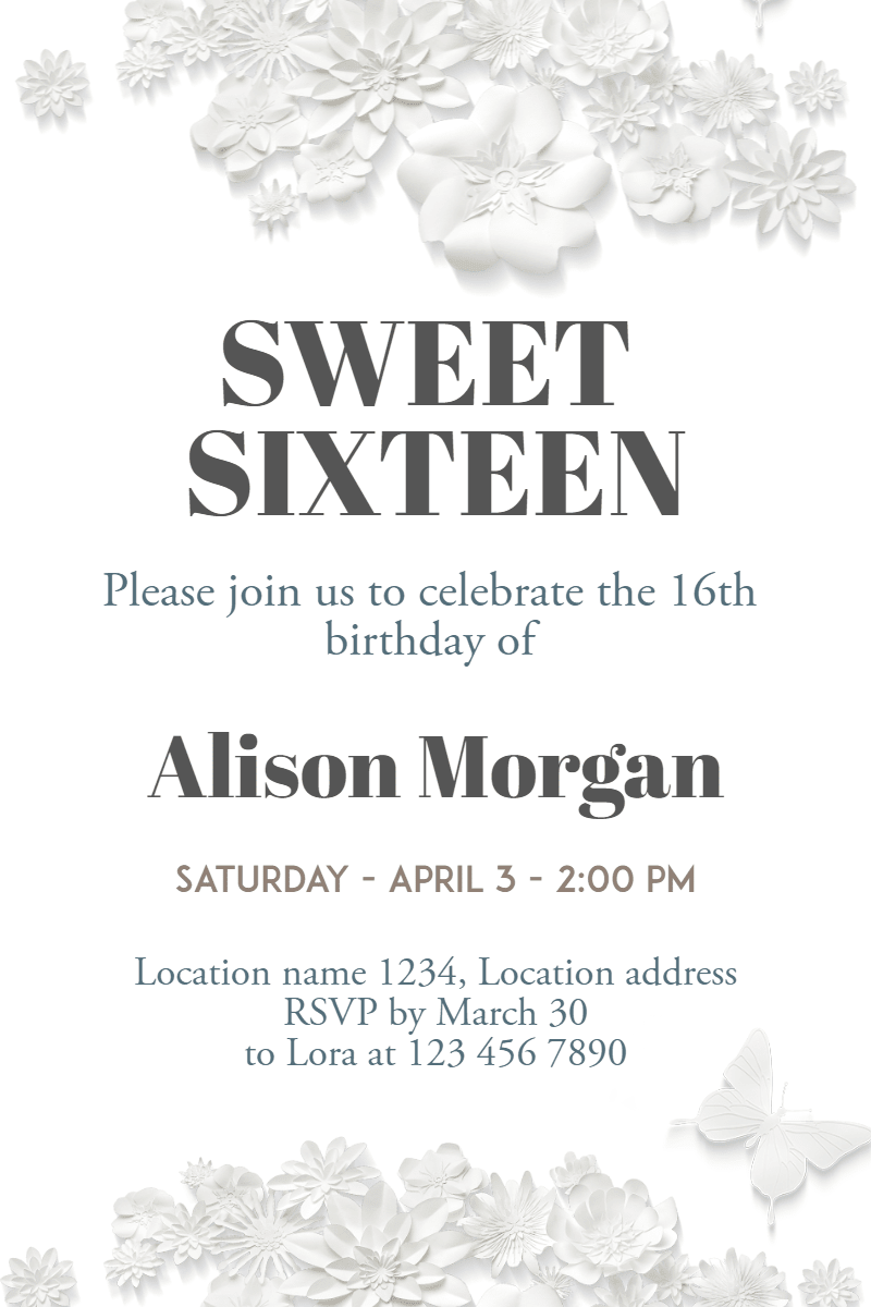 White,                Text,                Black,                And,                Font,                Monochrome,                Invitation,                Sweetsixteen,                Party,                Birthday,                Anniversary,                 Free Image