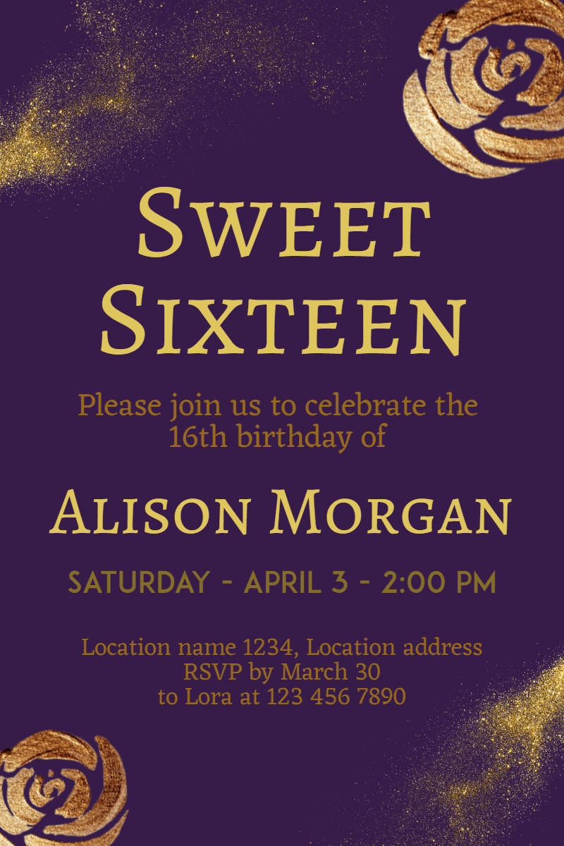 Text,                Font,                Poster,                Advertising,                Invitation,                Sweetsixteen,                Party,                Birthday,                Anniversary,                Black,                 Free Image