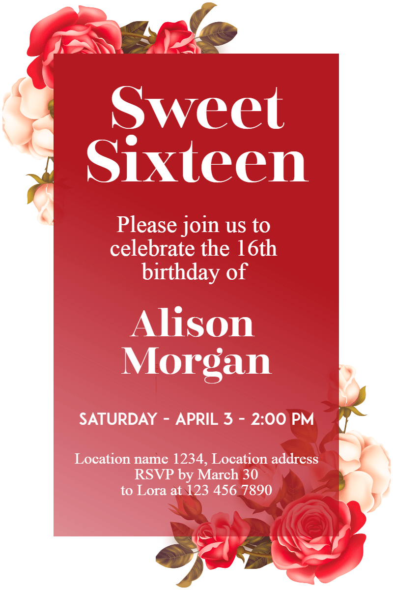 Flower,                Petal,                Rose,                Family,                Order,                Floral,                Design,                Invitation,                Sweetsixteen,                Party,                Birthday,                Anniversary,                White,                 Free Image